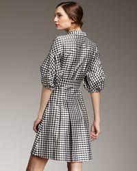 kate spade new york - Gray Tracy Gingham Shirtdress - Lyst