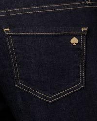 kate spade new york - Blue Broome Street Skinny Jeans - Lyst