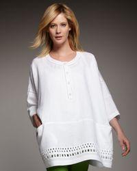 Lafayette 148 New York | White Solange Linen Top | Lyst