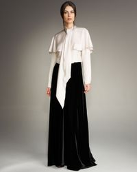 Lanvin | Black Long Velvet Skirt | Lyst