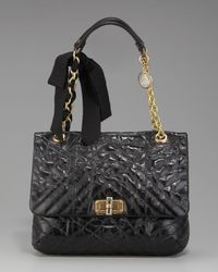 Lanvin | Black Happy Mm Shoulder Bag | Lyst