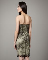 Mandalay - Green Rose Lace Overlay Dress - Lyst