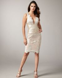 Mandalay | Natural V-neck Lace Dress | Lyst