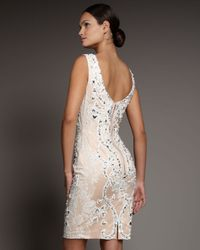 Mandalay | White Beaded Dip-back Dress | Lyst