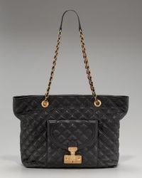 Marc Jacobs | Black Astor Quilted Shoulder Tote | Lyst
