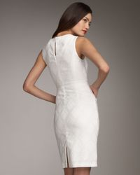 MILLY - White Beaded-neck Doris Dress - Lyst