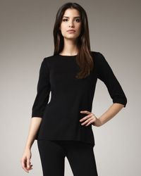 Misook Collection | Black Three-Quarter-Sleeve Top | Lyst