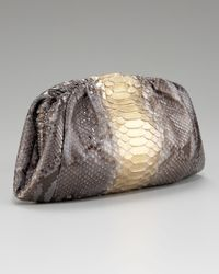 Nancy Gonzalez | Metallic Framed Python Clutch | Lyst