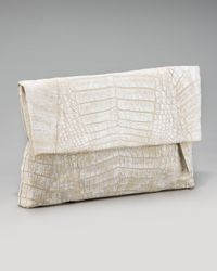 Nancy Gonzalez | Natural Crocodile Flap-top Clutch | Lyst