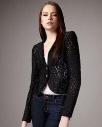 Nanette Lepore | Aria Lace Jacket, Black | Lyst