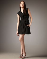 Nanette Lepore - Black Violetta Cap-sleeve Dress - Lyst