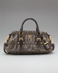 Prada | Gray Tessuto Gaufre Nylon East/west Satchel | Lyst