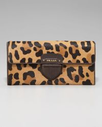 Prada - Multicolor Leopard-print Wallet - Lyst
