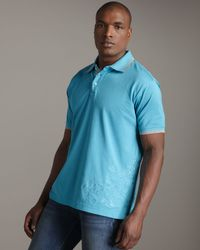 Robert Graham | Shark Polo, Light Blue for Men | Lyst