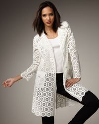 Royal Underground - White Sheer Lace Trench - Lyst