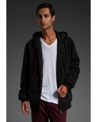 RVCA | Black Deacon Reversible Hoodie for Men | Lyst