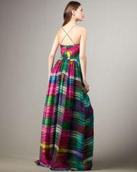 Shoshanna - Multicolor Twist-front Printed Maxi Dress - Lyst