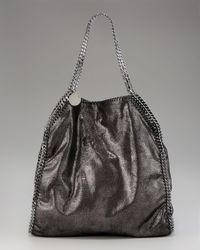 Stella McCartney | Black Falabella Metallic Big Tote | Lyst