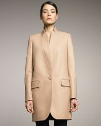 Stella McCartney | Natural Long Stand-collar Jacket | Lyst