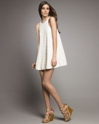 Tibi | White Lace Trapeze Dress | Lyst