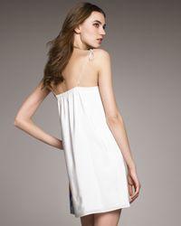 Tibi - White Tie-strap Printed Shift Dress - Lyst