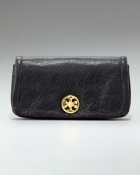 Tory Burch | Black Roslyn Continental Concierge Wallet | Lyst