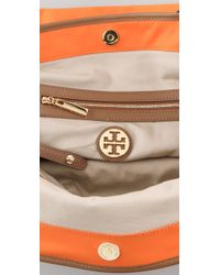 Tory Burch | Orange Logo Nylon Tote | Lyst