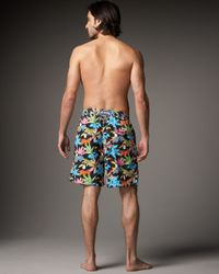 Vilebrequin - Multicolor Parrot-print Okoa Boardshorts for Men - Lyst