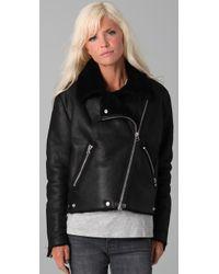 Acne Studios - Black Rita Shearling Paw11 Jacket - Lyst