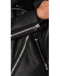 Acne | Black Rita Shearling Paw11 Jacket | Lyst