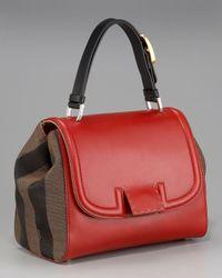 Fendi - Red Silvana Front-flap Handbag - Lyst