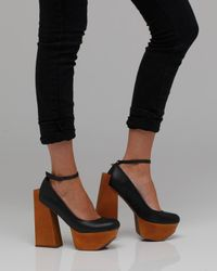 Jeffrey Campbell | Black 'foxy Lace' Sandal | Lyst