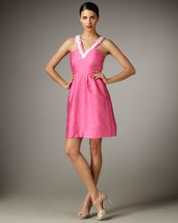 kate spade new york | Pink Jana V-neck Dress | Lyst