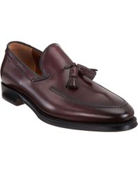 Battistoni - Purple Apron Toe Loafer with Tassel Detail for Men - Lyst