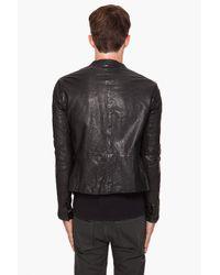Diesel Black Gold | Black Losco-es Leather Jacket for Men | Lyst