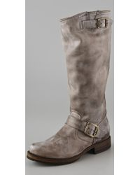 Frye | Gray Veronica Slouch Boots | Lyst