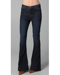 J Brand | Blue Bianca High-rise Flare Jeans | Lyst