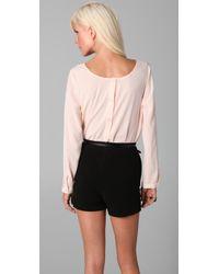 Kova & T - Pink Paisley Long Sleeve Bodysuit - Lyst