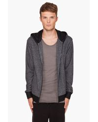 T By Alexander Wang - Gray Siro French Terry Zip Up All The Way Hoodie for Men - Lyst