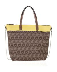 Valentino - Embellished And Embossed Rockstud Tote - Brown - Lyst