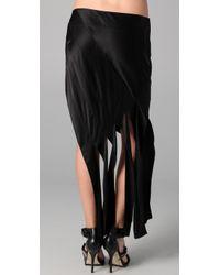 Alexander Wang   Black Bias Streamer Skirt   Lyst