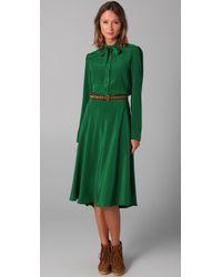 Marc By Marc Jacobs | Green Michaela Silk Dress | Lyst