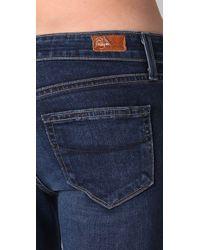 PAIGE - Blue Lou Lou Petite Flare Jeans - Lyst