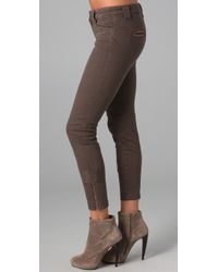 Vince | Brown Zip Zip Pants | Lyst
