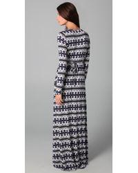 Rachel Pally - Blue Long Sleeve Full Length Caftan Dress - Lyst