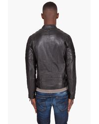 G-Star RAW - Black Marchant Leather Jacket for Men - Lyst