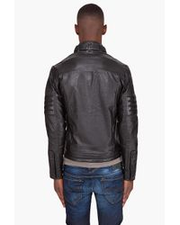 G-Star RAW - Black Mfd Leather Jacket for Men - Lyst