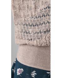 Rebecca Taylor - Gray Runway U-neck Sweater - Lyst