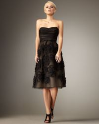 Robert Rodriguez | Black Brittany Rosette Dress | Lyst