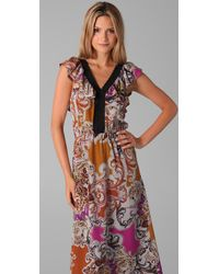 Sunner | Multicolor Willow Long Print Dress | Lyst